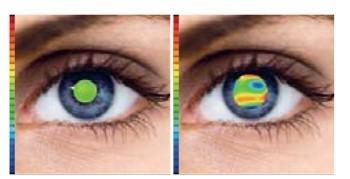 Päeval: Selge nähtavus; Öösel: Ähmane nähtavus ja haloefektid